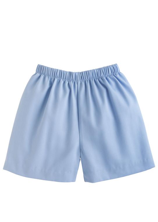 Light Blue Twill Shorts