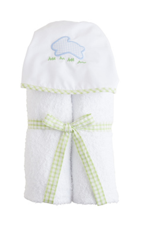 Blue Bunny Hooded Towel