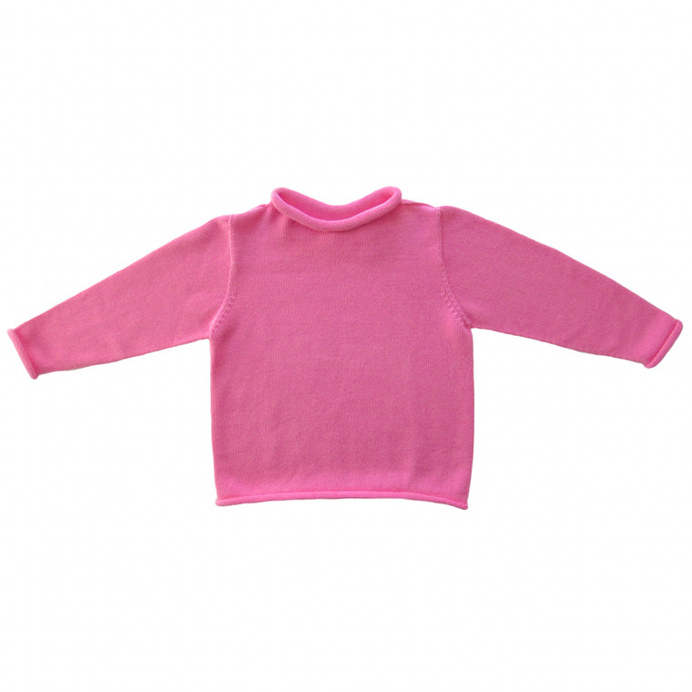 Bright Pink Rollneck Sweater