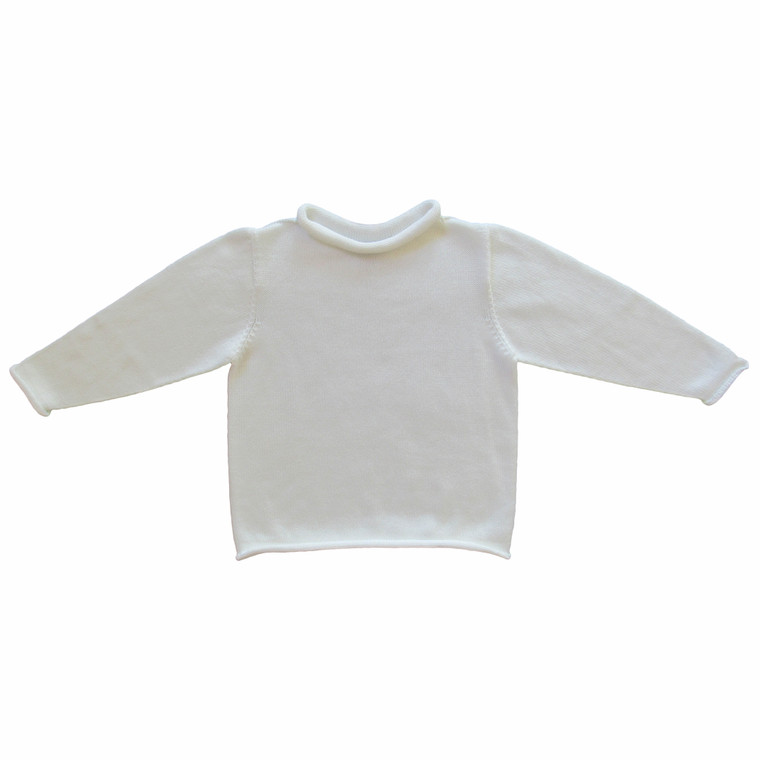 White Rollneck Sweater