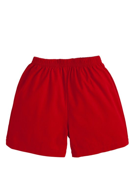 Basic Red Twill Shorts
