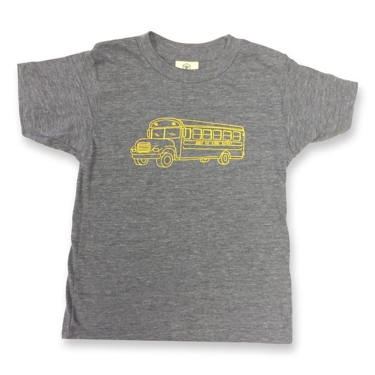 Grey School Bus Tee