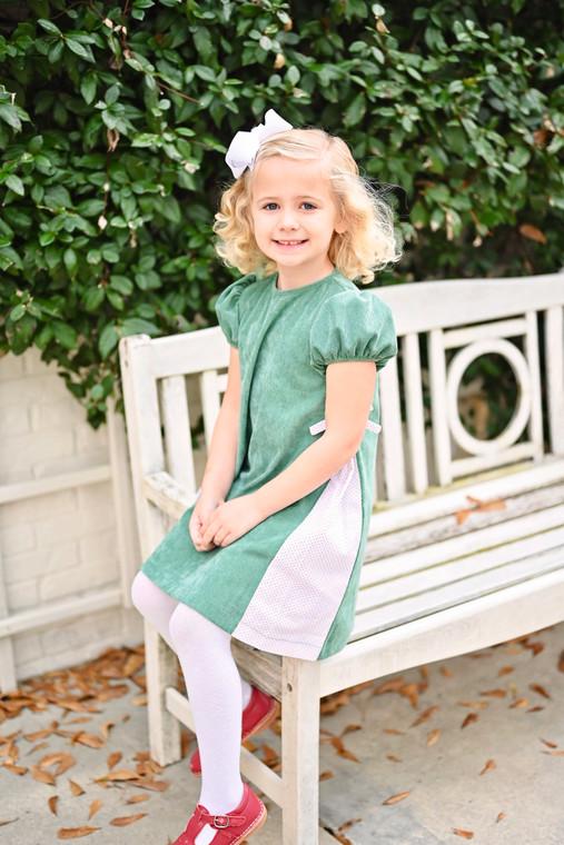 Green Cord Cece Dress