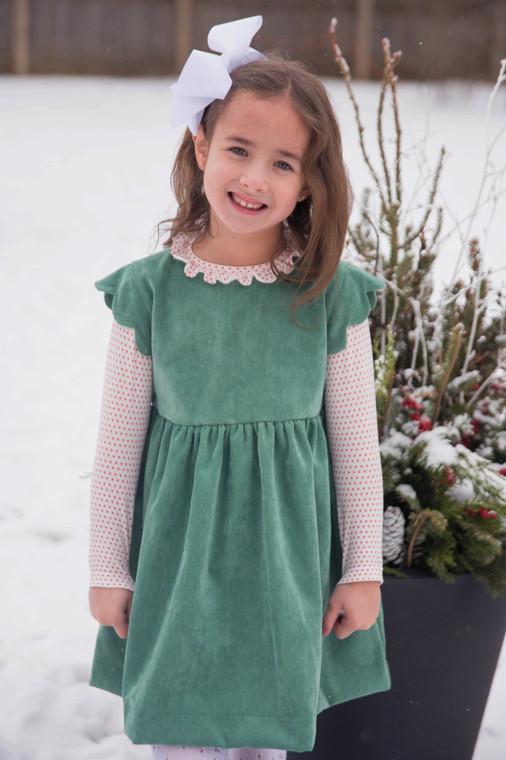 Green Cord Sadie Dress