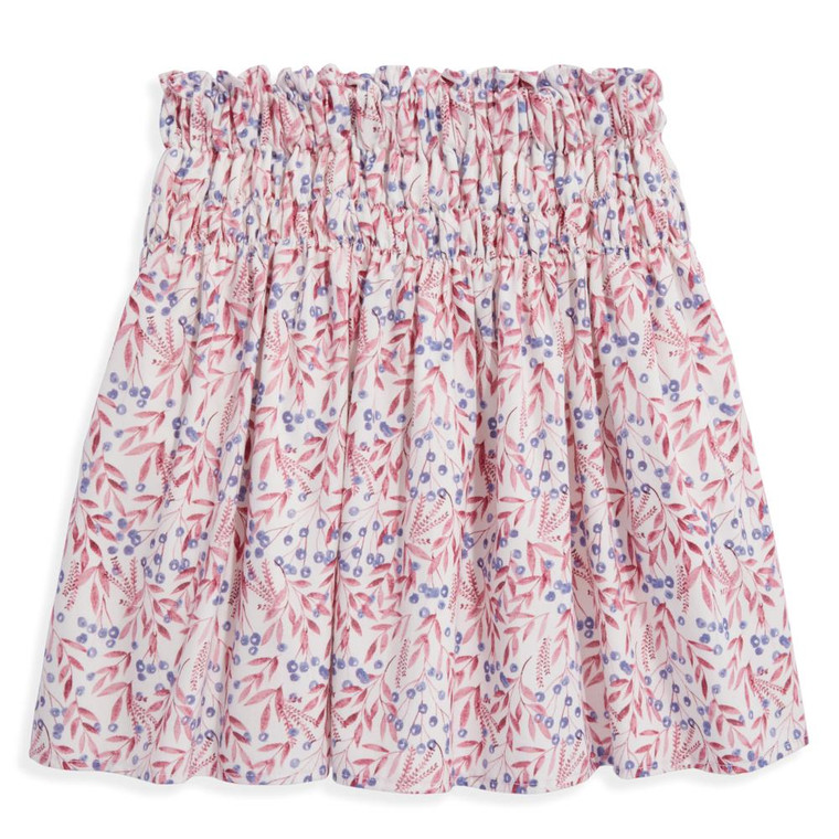Plum Blossom Smocked Skirt