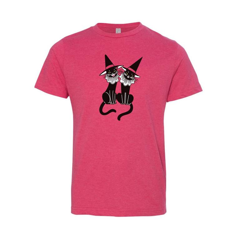 Pink Vintage Kitties Tee