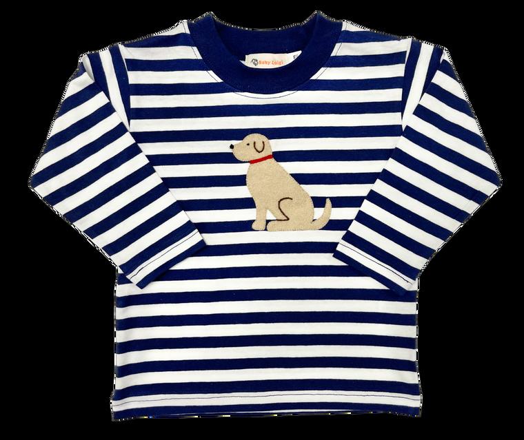 Navy Stripe Lab Shirt