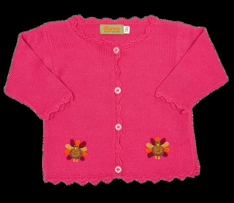 Hot Pink Turkey Cardigan
