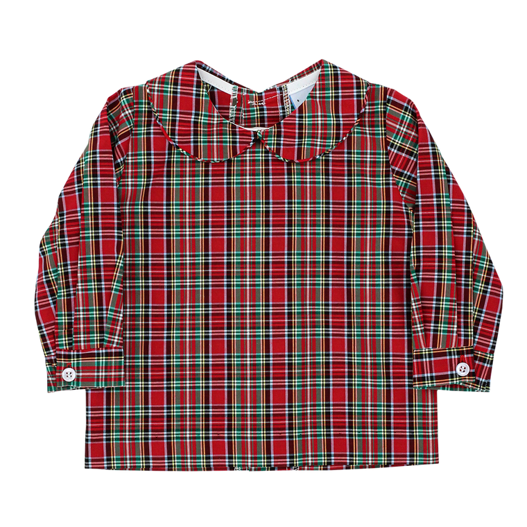 Red Tartan Piped Shirt