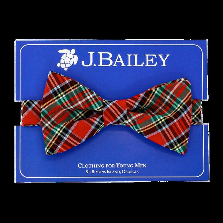 Red Tartan Johnny Bow Tie
