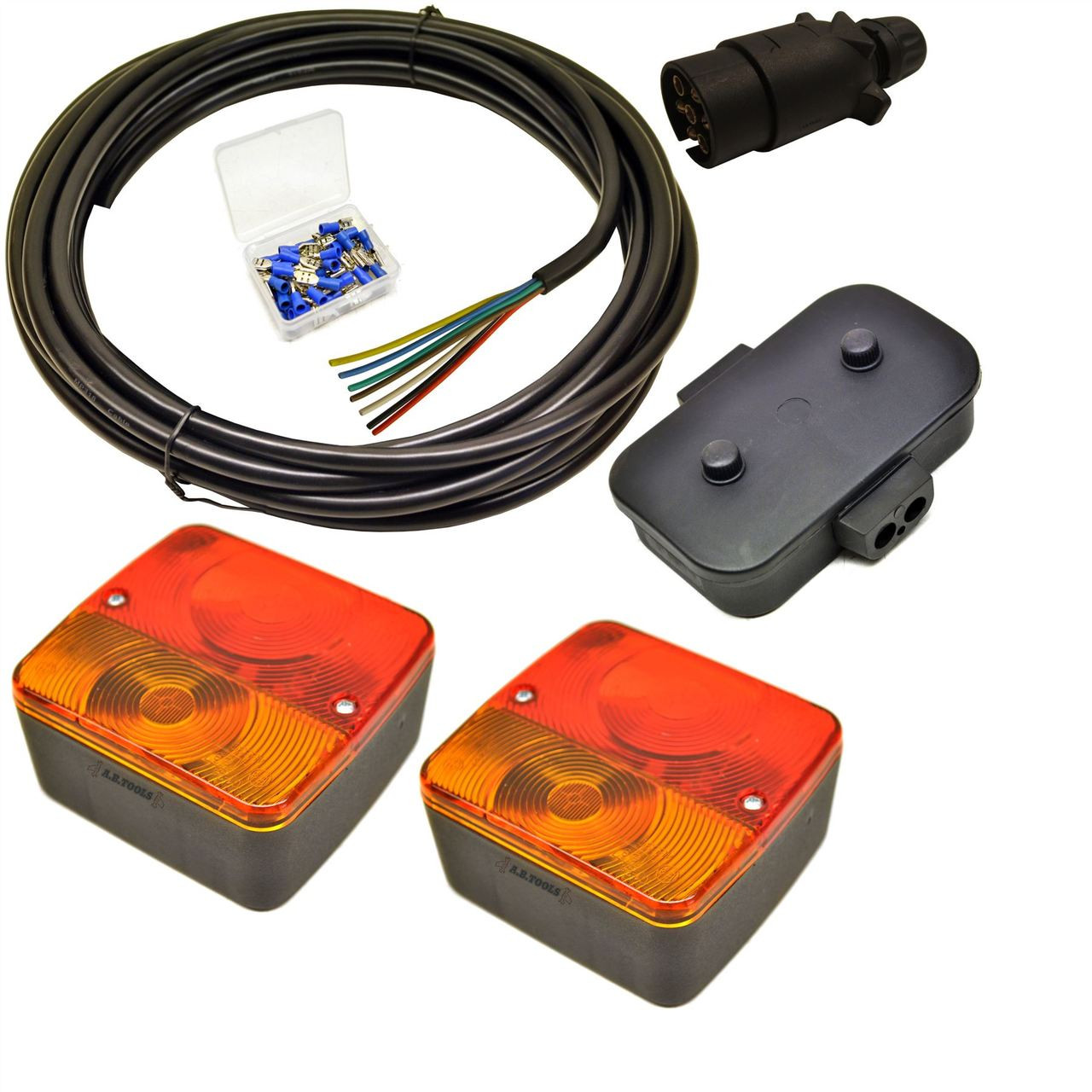 Awesome Trailer Light Wiring Kit Small Lights Plug Junction Box 5M Wire Wiring Digital Resources Cettecompassionincorg