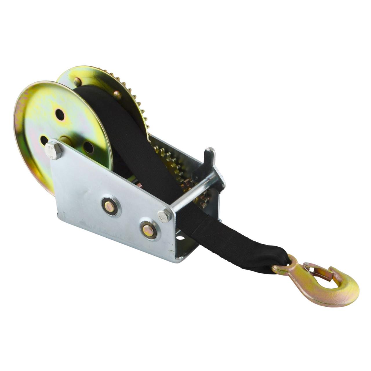 2000LB Hand Strap Winch Boat Caravan Trailer Marine Puller Hoist Gear TE826