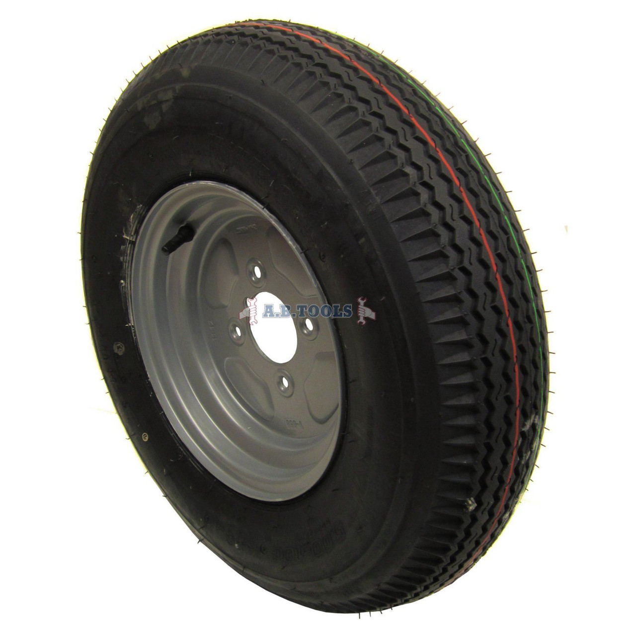 "Trailer Wheel and Tyre 5.00 x 10"" 4ply 4""pcd TRSP11"