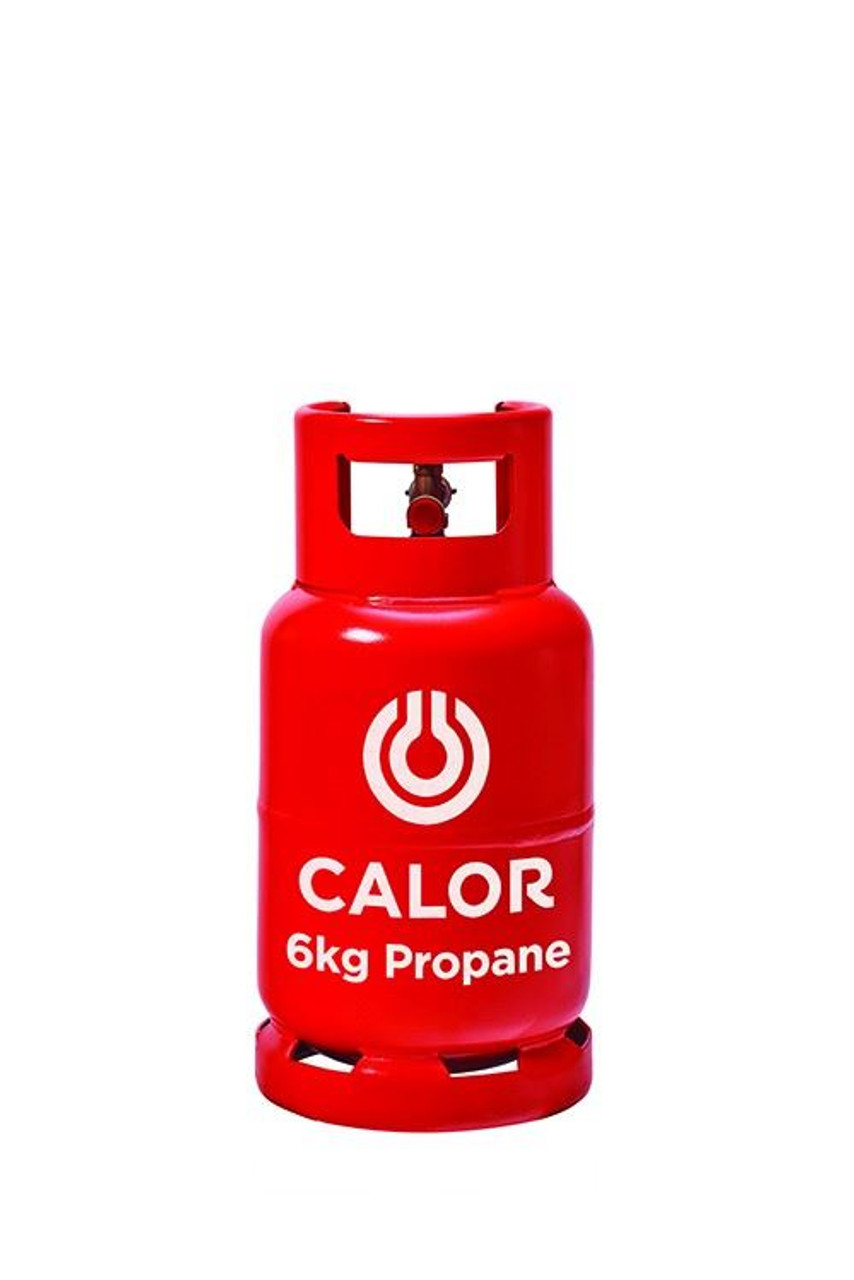 6kg Propane Calor Gas Bottle (Red - Collection Only)