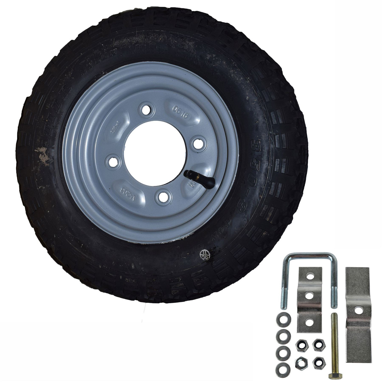 Spare Wheel & Tyre with Mounting Bracket for Erde & Daxara 100 101 102 Trailer