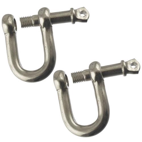 2 Pack 12mm Galvanised Steel D Shackle Dee Link Chandlery Lifting Towing