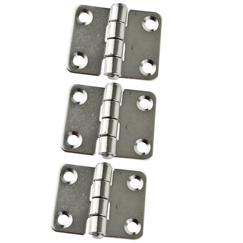 Cabin Door Hinges 3 PACK Stainless Steel for Boat Yacht Motor Home Locker Marine