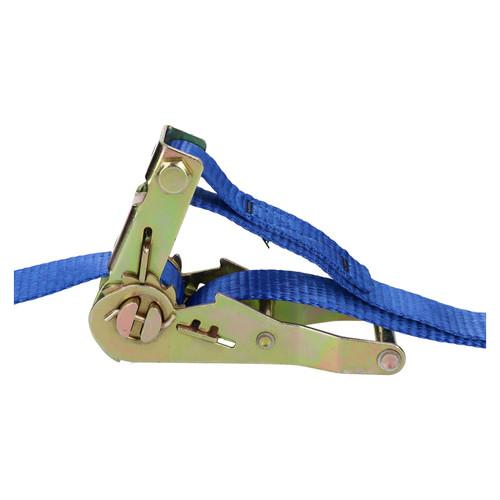 Blue Ratchet Strap Tie Down Trailer 4m Hook Cargo Strap 325kg Lashing SM003