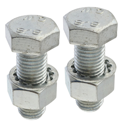 PAIR Tow Bar / Tow Ball Bolts 45mm Long with Nuts & Washers HIGH TENSILE
