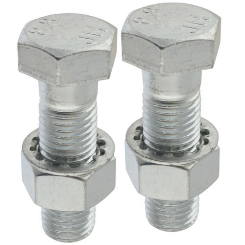 PAIR Tow Bar / Tow Ball Bolts 55mm Long with Nuts & Washers HIGH TENSILE