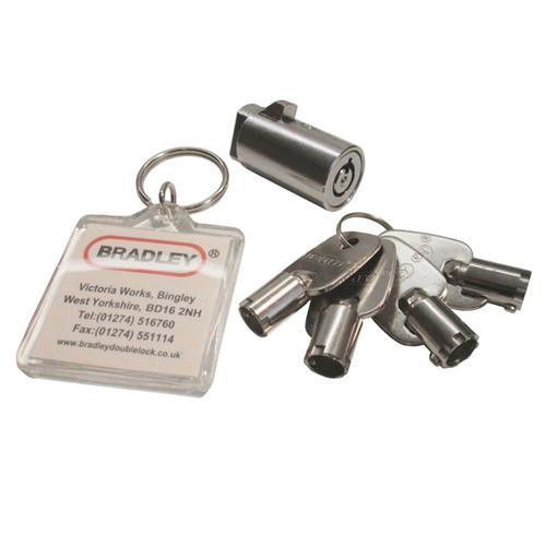 Bradley 2750kg Coupling 50mm Hitch Tow & Steel Jockey Wheel & Barrel Lock