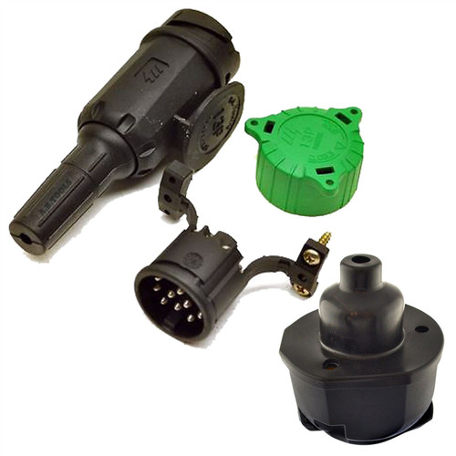 13 PIN Plug Trailers Caravans Electric Wring Plug And Socket with Gasket Euro