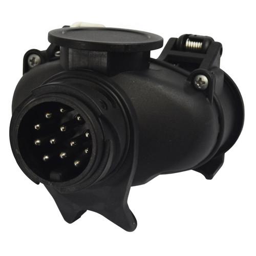 Caravan Electrics Adapter 13Pin Car Socket to Twin 7 Pin Trailer Plug TR166