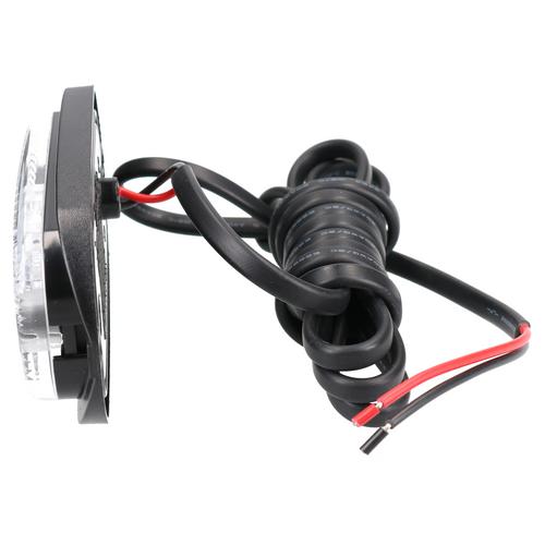 White / Clear LED Front Marker Light / Lamp Trailer Caravan 12v 24v TR122