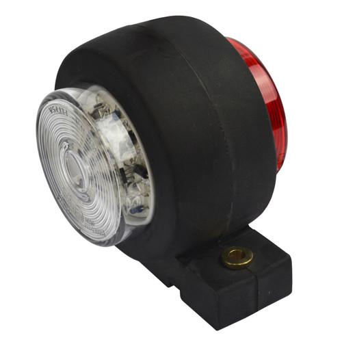 Trailer Side Marker LED Light / Lamp Red & White 12v or 24v TR168