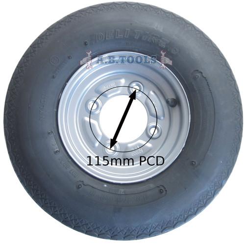 "Trailer Wheel /& Tyre 20.5 x 8.0-10 4/"" PCD 4 PLY TRSP13"