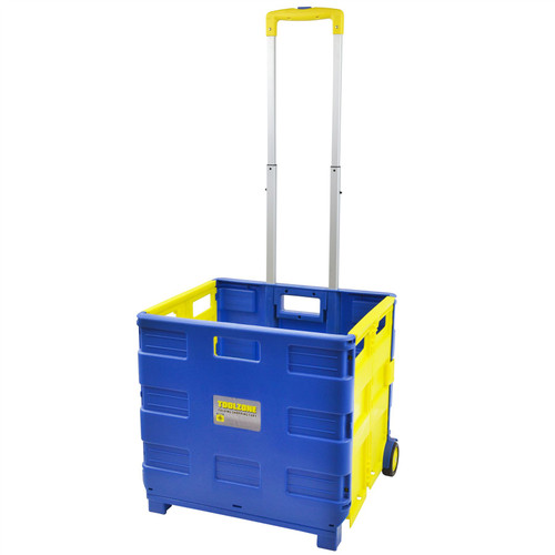 35KG Folding Shopping Cart With Telescopic Handle Pulling Trolley Tools TE655