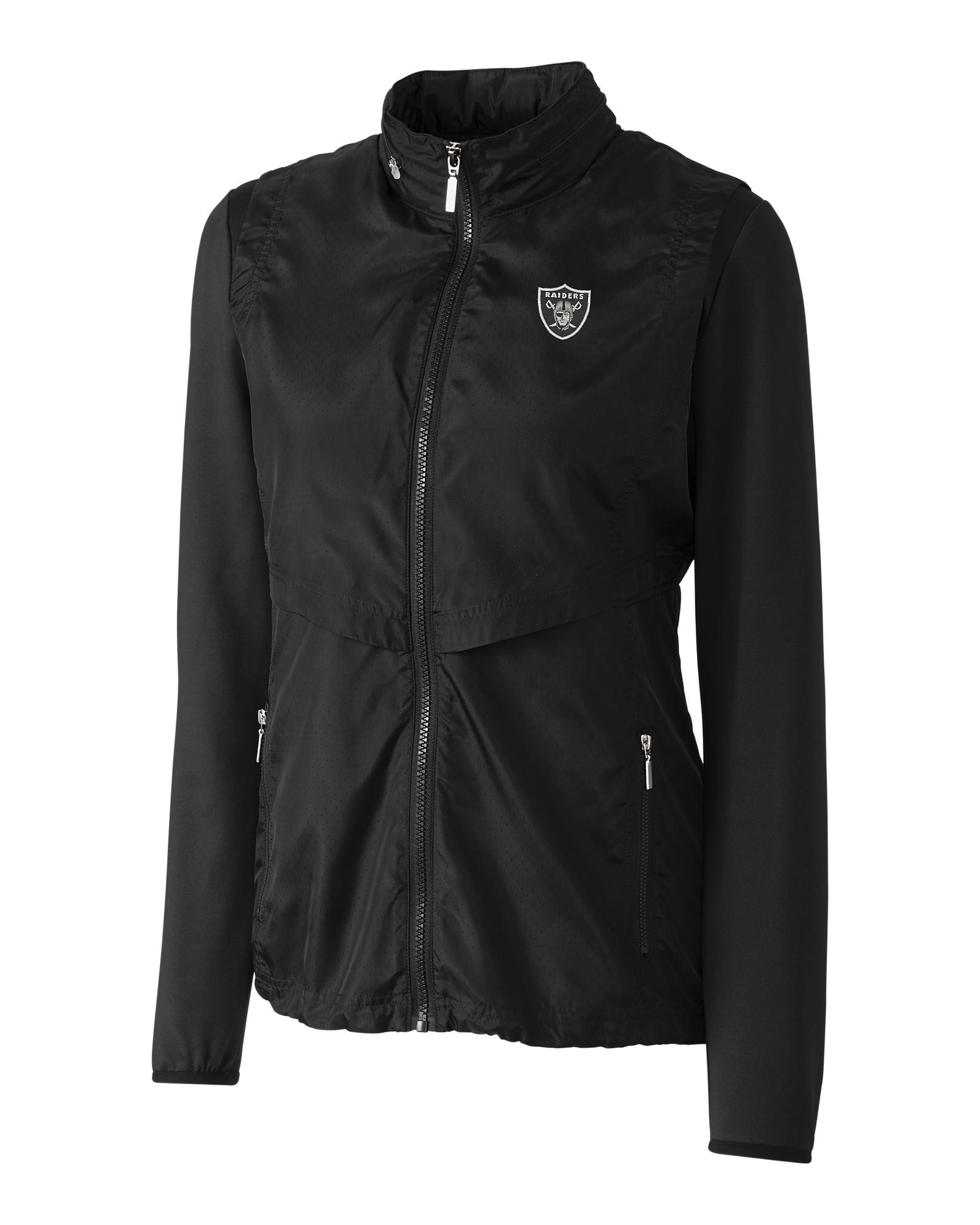 hot sale online fa5c0 00cc6 Oakland Raiders Ladies' Ava Hybrid Full Zip