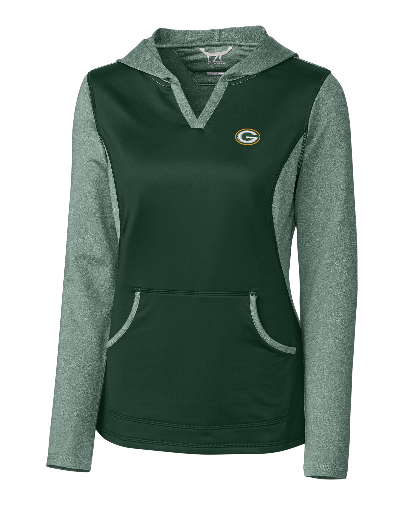 quality design cd83d f1f52 Green Bay Packers Ladies' Tackle Hoodie