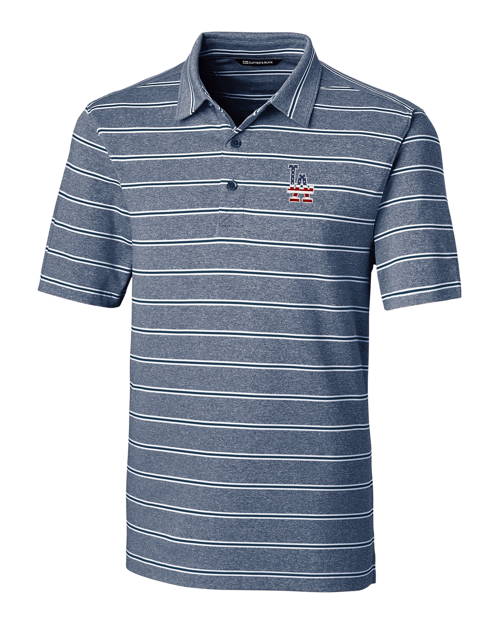 finest selection d53c9 5b410 Los Angeles Dodgers Americana Men's Forge Polo Heather Stripe