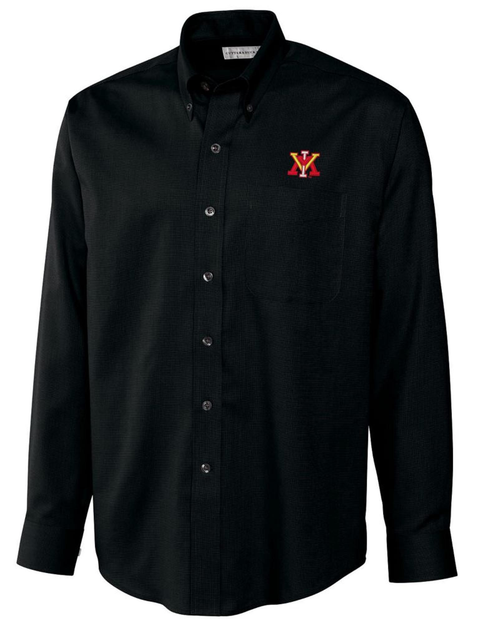 559ec18509c518 Virginia Military Institute Men's Long Sleeve Nailshead Woven Shirt