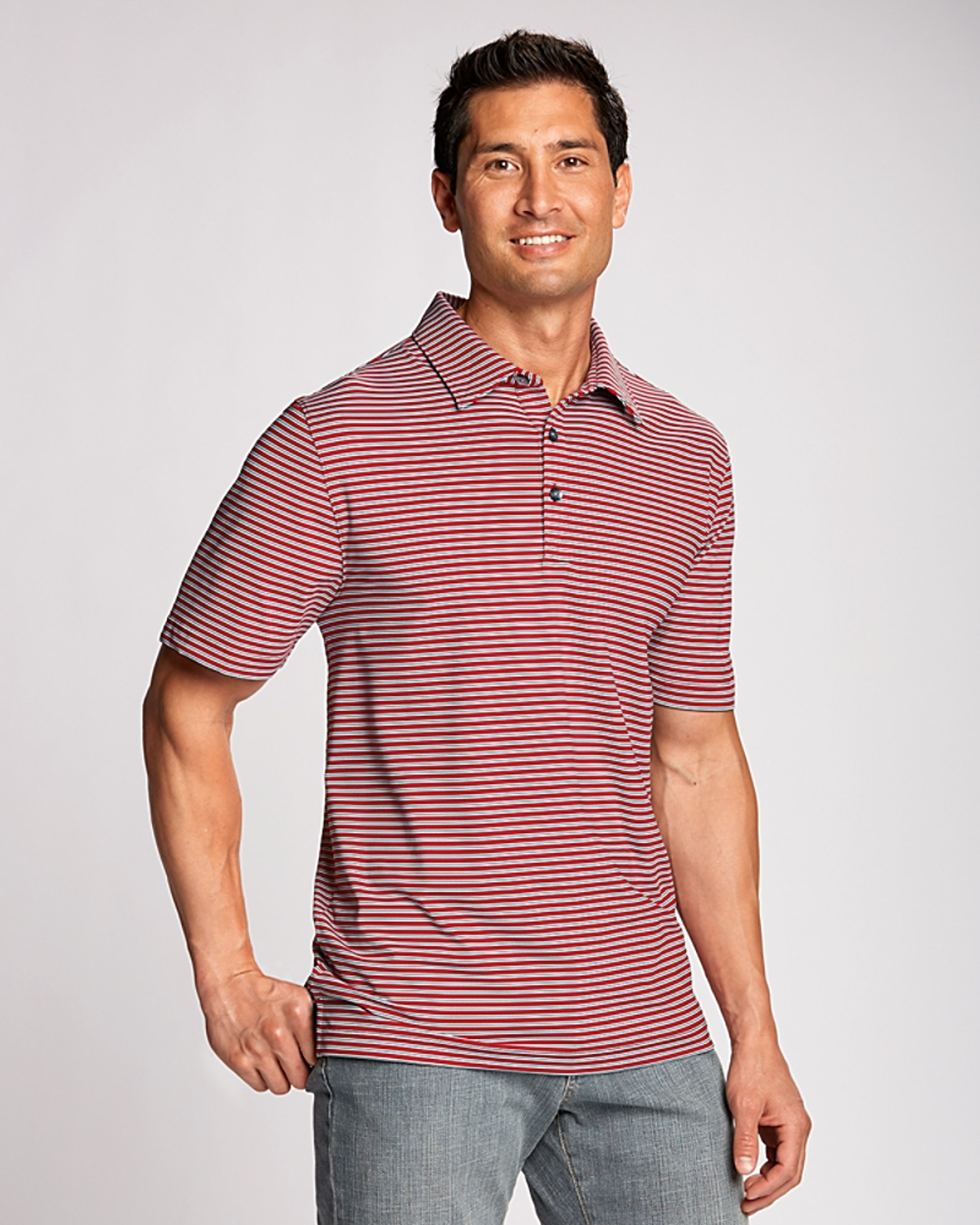 Cutter and Buck Everson Stripe Polo