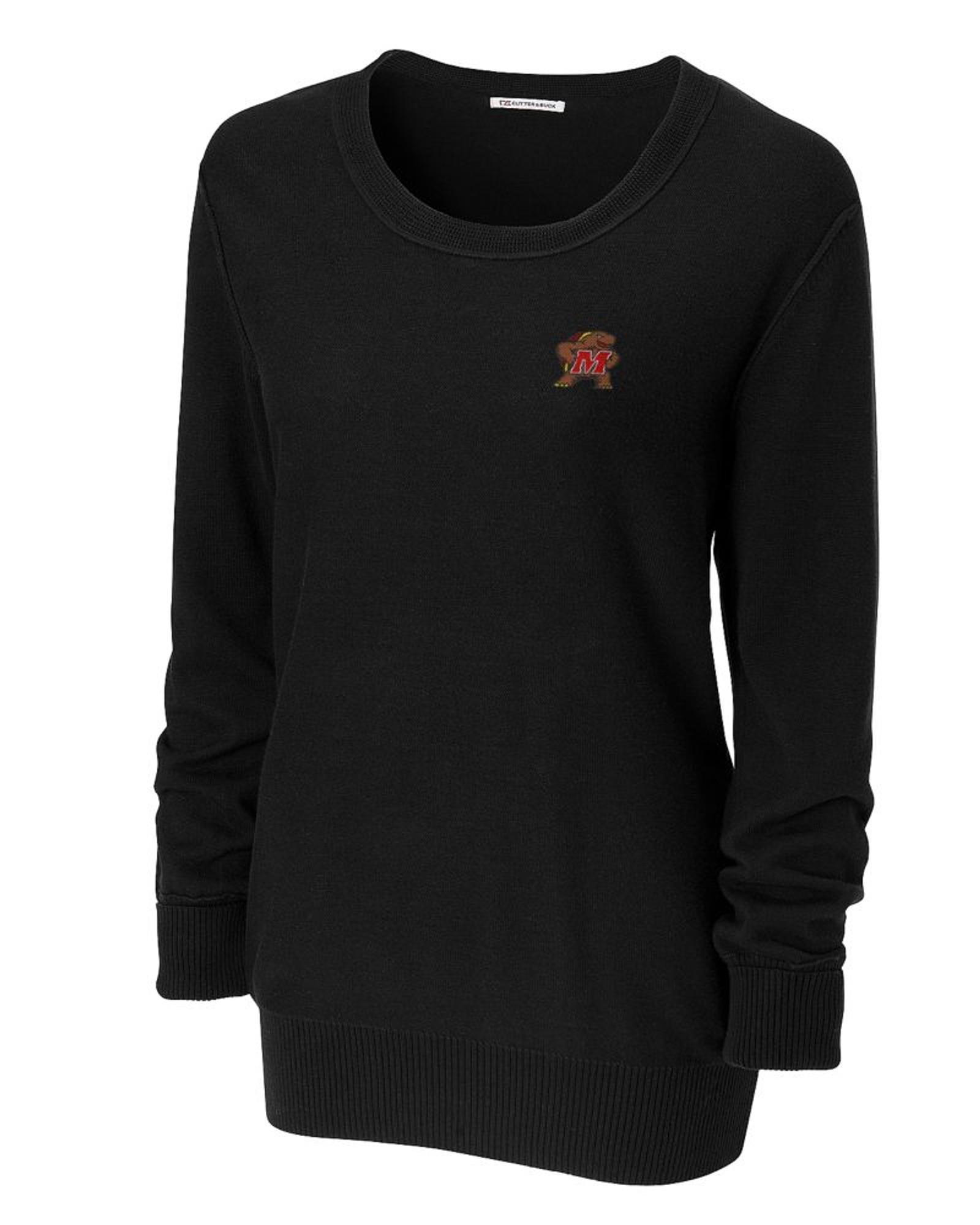 University of Maryland Terrapins Women s Broadview Scoop Neck Sweater d504d46a2