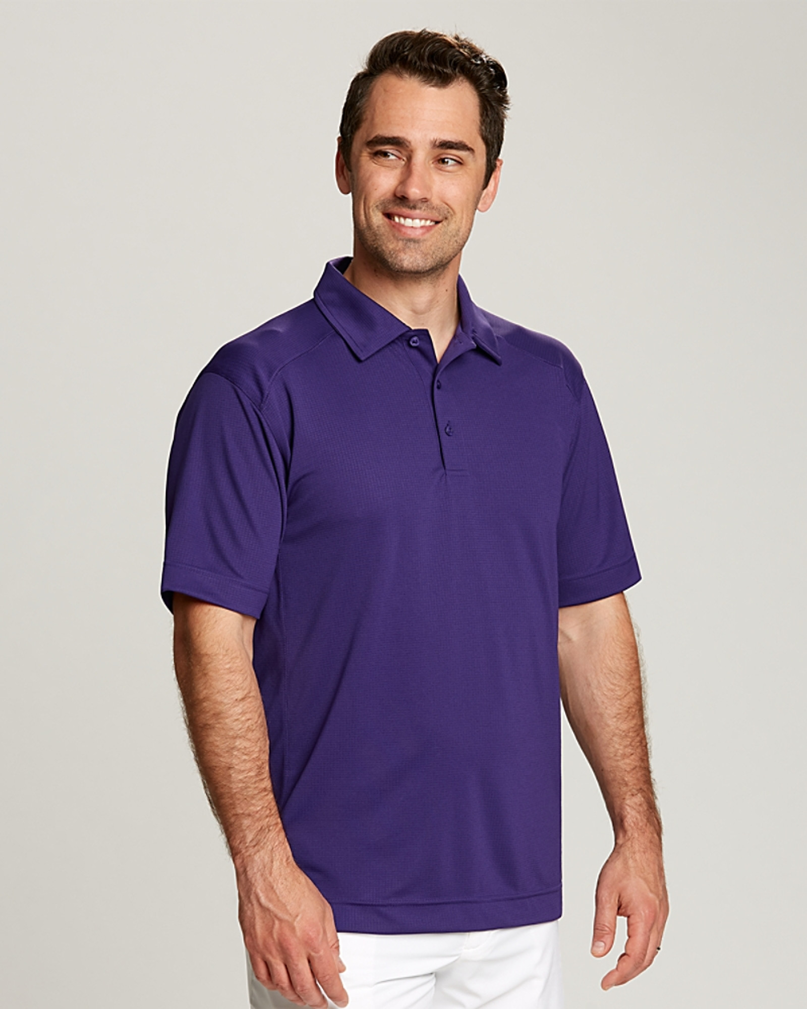Cutter & Buck CB Drytec Genre Textured Solid Mens Big and Tall Polo