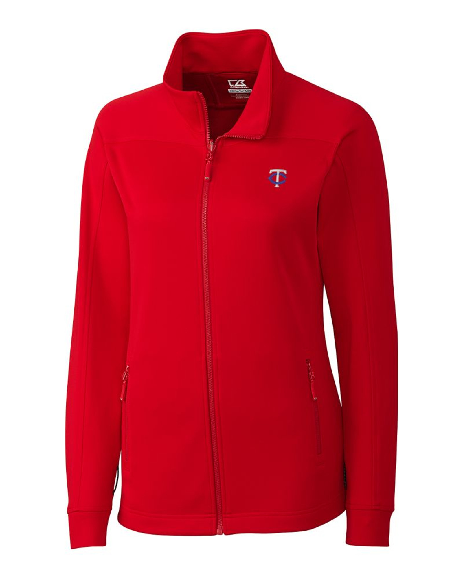 c2fb4f2e77e Minnesota Twins Ladies Peak Full Zip - Cutter & Buck