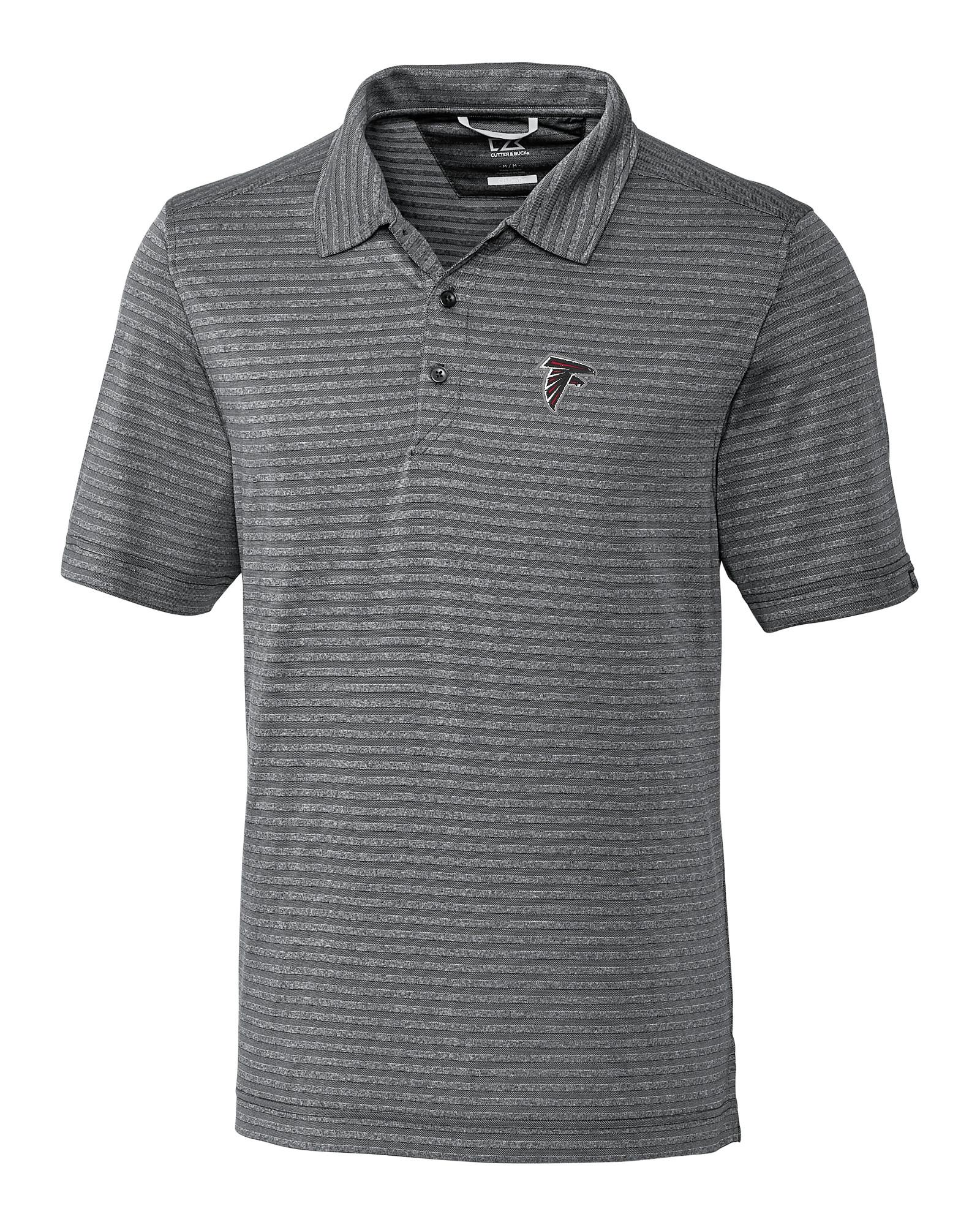 44c684e49 Atlanta Falcons Cascade Melange Stripe Polo - Cutter   Buck