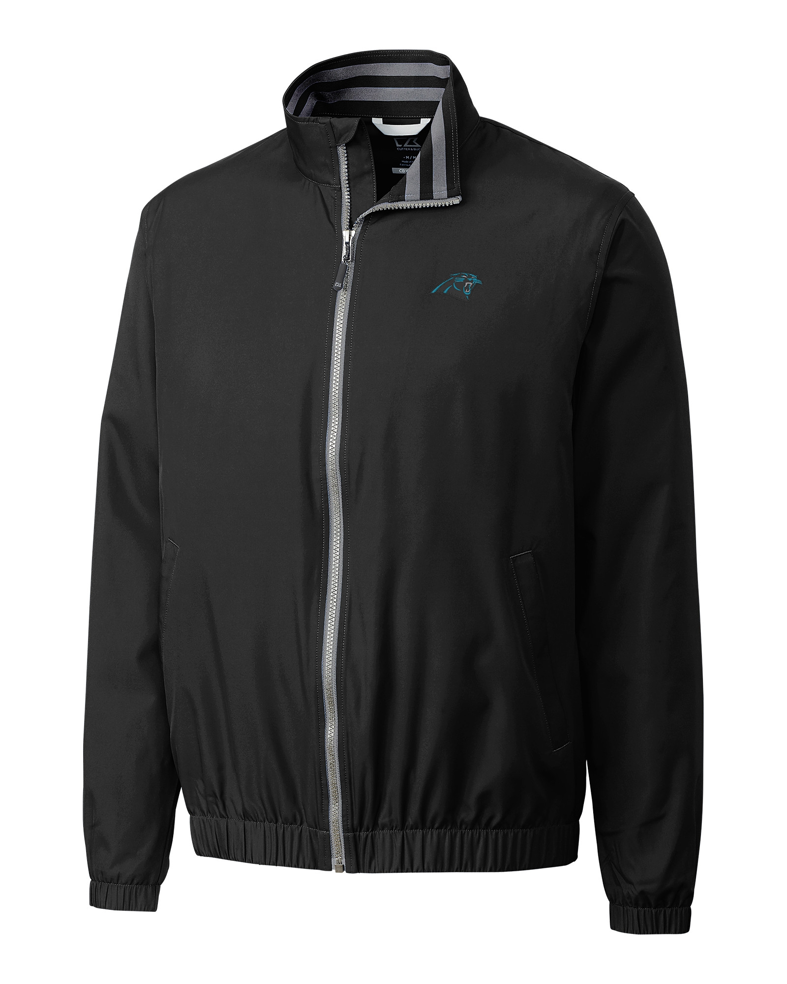 Carolina Panthers B T Nine Iron Full Zip Jacket - Cutter   Buck 09872e0df