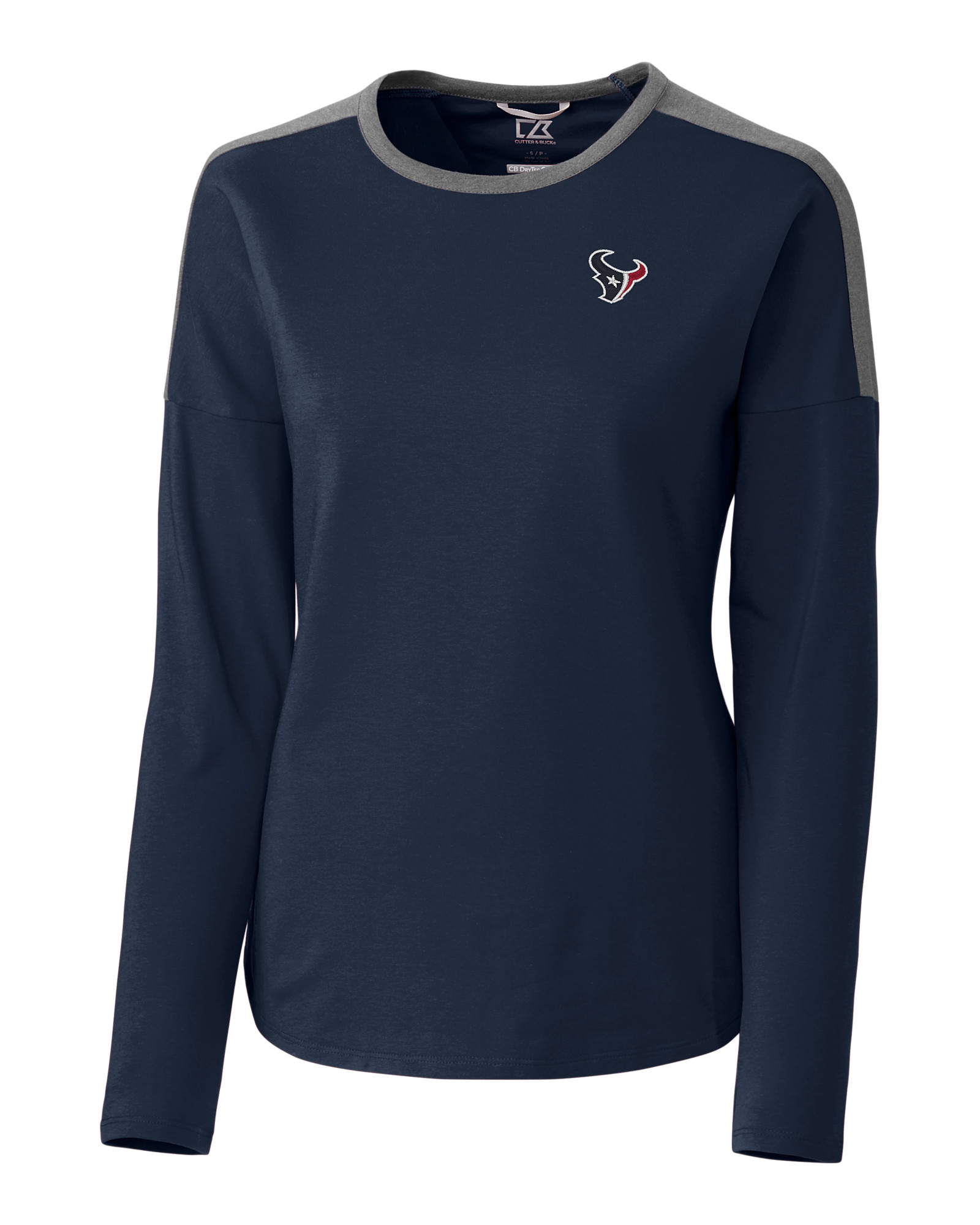 6cec482a Houston Texans Ladies' Cheer Colorblock Tee