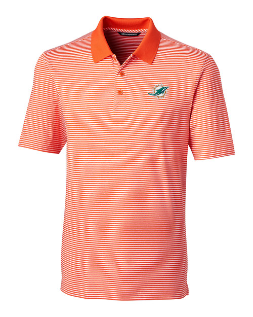 Miami Dolphins B&T Forge Polo Tonal Stripe