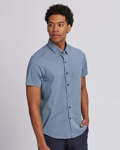 Big & Tall Anchor Short-Sleeve Gingham Shirt