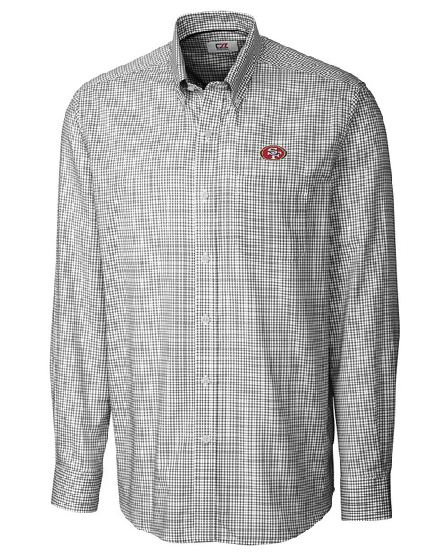 San Francisco 49ers Men's L/S Epic Easy Care Tattersall 1