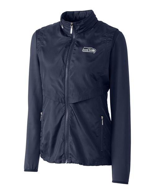 Seattle Seahawks Ladies' Ava Hybrid Full Zip