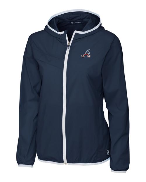 Atlanta Braves Americana Ladies' Breaker Hooded Jacket