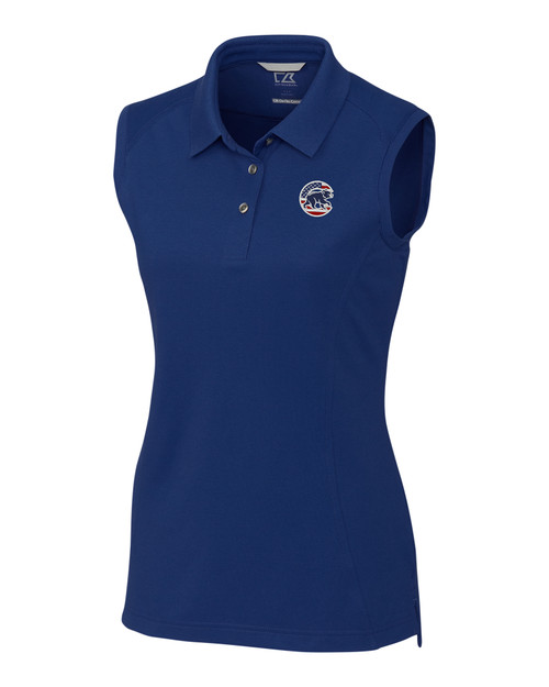 Chicago Cubs Americana Ladies' Sleeveless Advantage Polo