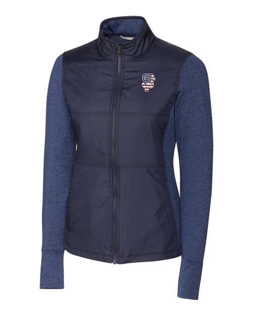 San Francisco Giants Americana Ladies' Stealth Full-Zip