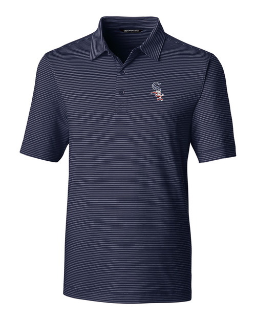 Chicago White Sox Americana Men's Forge Pencil Stripe Polo